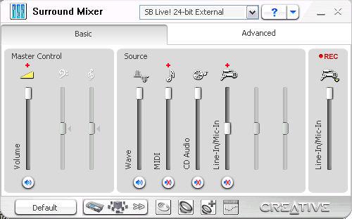 Tip: creative sb live! 24-bit external (usb sound card) works.